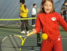 Junior tennis try out session